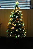 """Светящаяся, оптоволоконная елка """"Снежинка"""" 120 см, sv120"""