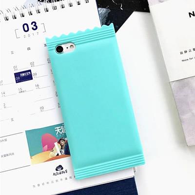 Чехол накладка на iPhone 6/6s конфетка, силикон, мятный