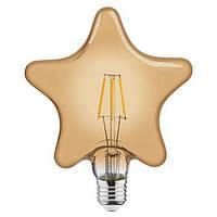 Филаментная led лампа Horoz Electric 6W RUSTIC STAR-6