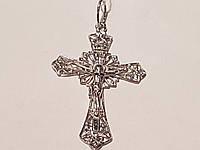 Серебряный крест Распятие Христа. Артикул 3624р