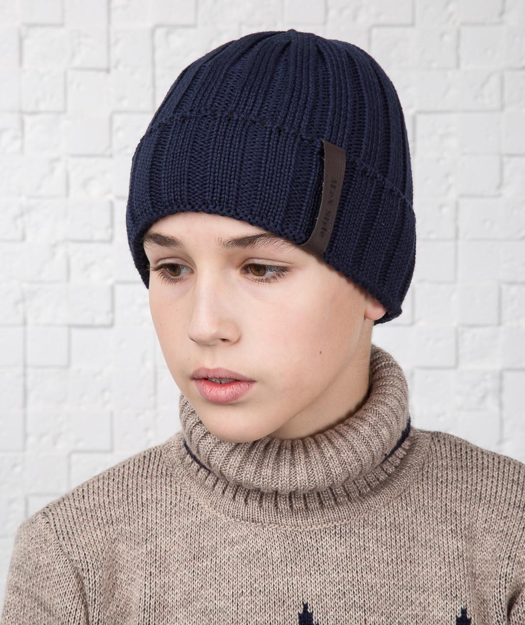 Мальчуковая зимняя шапка с отворотом ALEX - Артикул AL17037
