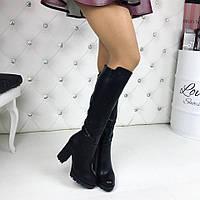 Только 35 размер! Ботфорты женские классика мех европейка подкладка флис