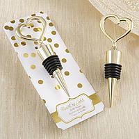 """Подарки гостям на свадьбе - Заглушка для бутылки """"Golden heart"""""""