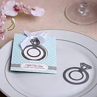 """Подарки гостям на свадьбе - Закладка для книги """"Кольцо"""""""