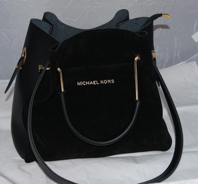 Черная замшевая женская сумка-шопперMісhаеl Коrs