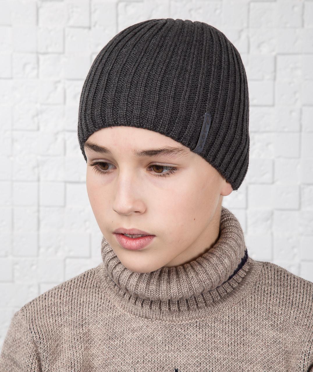 Зимняя вязаная шапка для мальчика подростка ALEX - Артикул AL17040