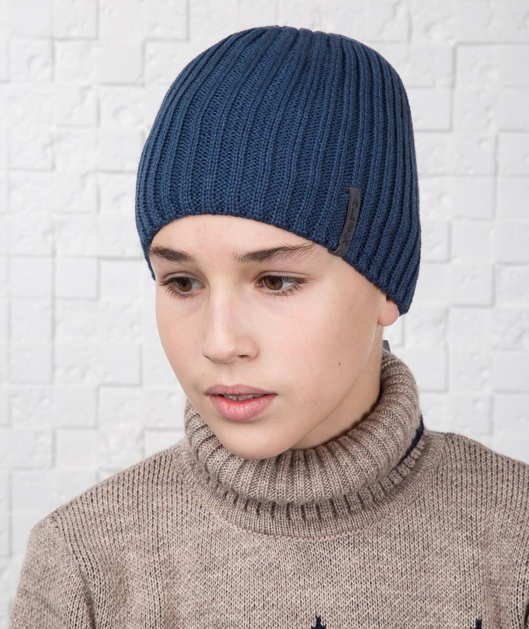Стильная шапка для мальчика подростка на флисе - Артикул AL17040