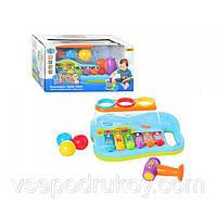 Игрушка Ксилофон Joy Toy 9199 с шариками и молоточком