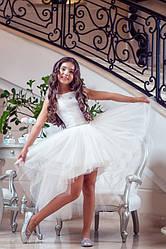 Нарядное детское платье Стильность ТМ Зиронька 64-7008-3 белое
