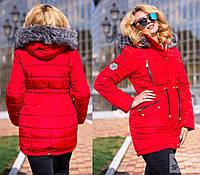 Женская куртка с мехом,плащевка, синтепон 300