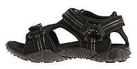 Сандалии женские спортивные на липучках черные 4Rest USA кожаная стелька, Черный, 40