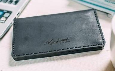 Мужское кожаное портмоне Knockwood - Norfolk, Black