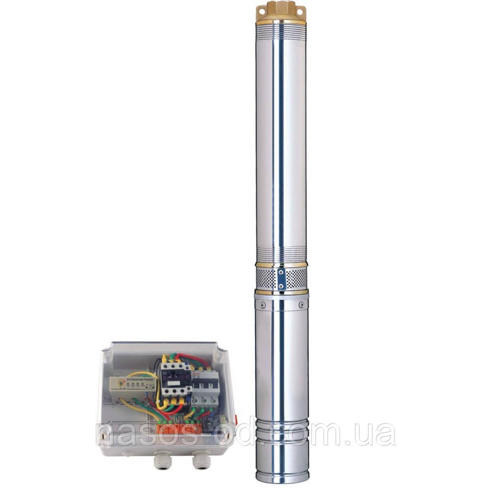 Насос центробежный глубинный Dongyin для скважин 380В 7.5кВт Hmax140м Qmax350л/мин Ø102мм (кабель 3.5м)