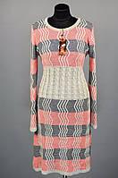 """Уютное женское платье-свитер """"Шерстяная вязка""""  48, 50, 52 размер батал"""
