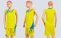 Форма баскетбольная подростковая Pace LD-8081T-2 (PL, р-р S,M,L,115,120, рост 125-165, желтый-голубой)