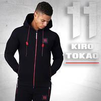 Мужской спортивный костюм Kiro tokao 137 черно-красный