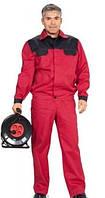 Костюм рабочий красный, куртка, брюки, полукомбинезон, жилет пошив под заказ