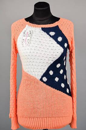 """Комфортный женский свитер """"Шерстяная вязка"""" 48, 50 размер норма, фото 2"""