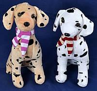 Мягкая игрушка Собака Долматинец с шарфом