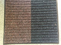 Грязезащитный коврик черный с коричневым 780х680 мм