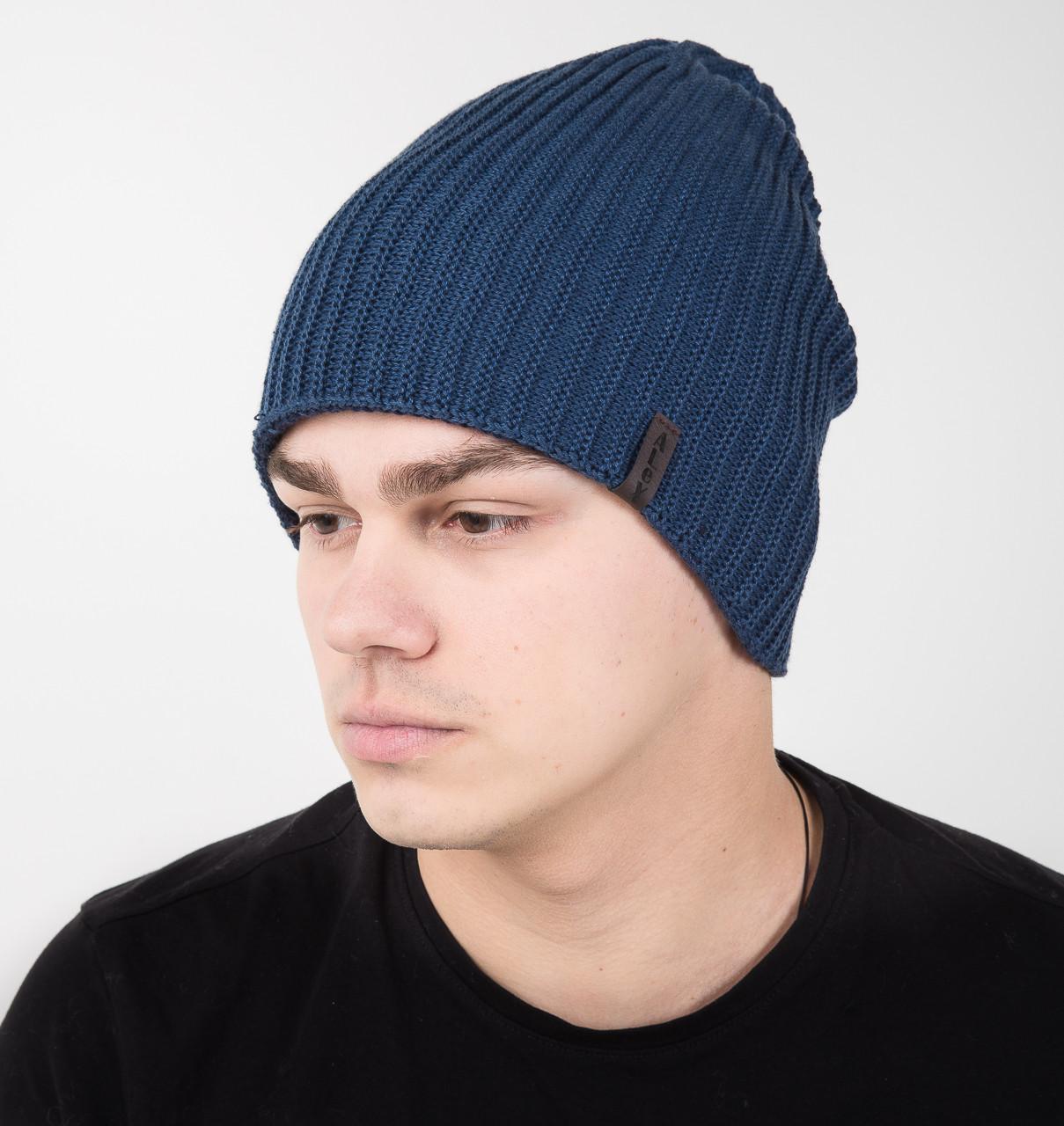 Новинка сезона 2018 мужская шапка на флисе на 2 стороны - Арт AL17027