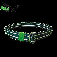 Маркировочный ошейник зелено-белый