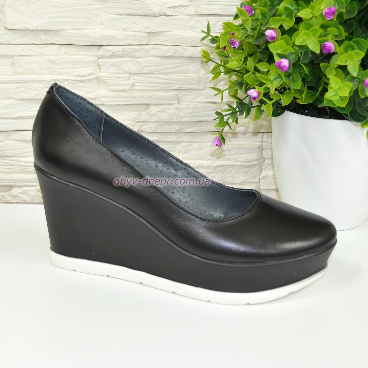 d99086356c2b Женские кожаные туфли на устойчивой платформе. ТМ