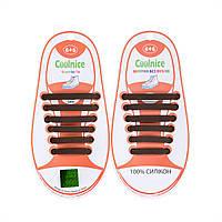 Силиконовые шнурки Coolnice Kids Д11 Коричневые
