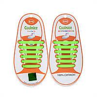 Силиконовые шнурки Coolnice Kids Д13 Зеленые