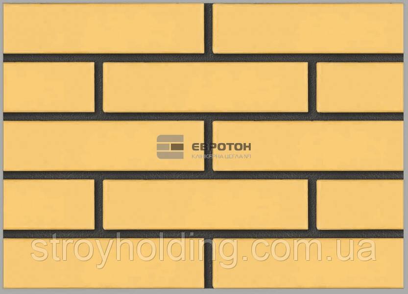 Кирпич лицевой Евротон, желтый