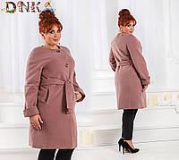 Женское кашемировое пальто на пуговицах