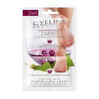 Eveline Cosmetics 2 * 6 мл ROYAL SPA PEDICURE 2в1 Регенерирующий скраб с экстрактом шелка + Маска с красным ви