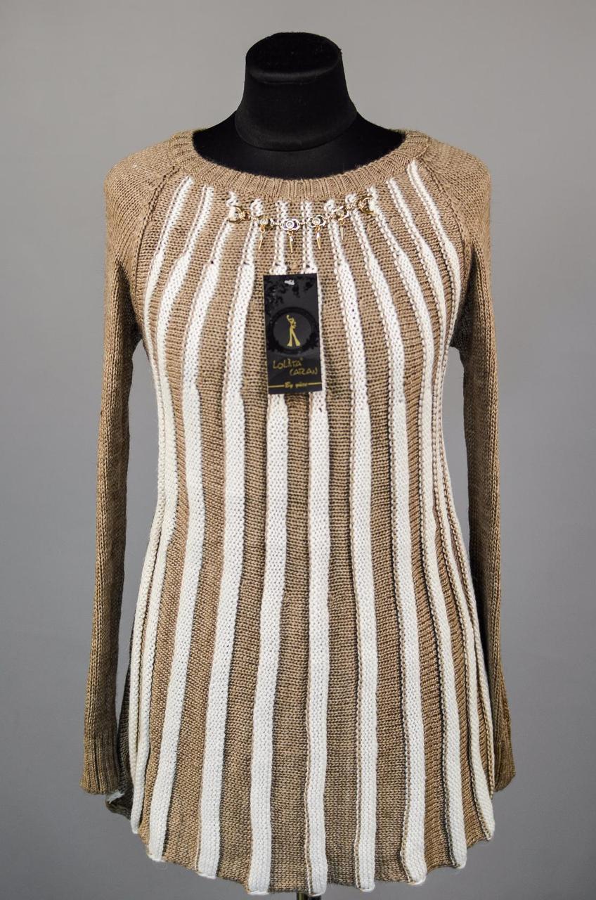 """Стильный женский свитер """"Шерстяная нить"""" 50 размер норма"""