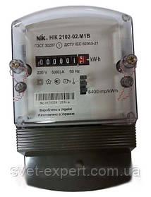 Лічильник НІК 2102-02 М1В, 5(60)А, 1ф, електромех. однотариф.