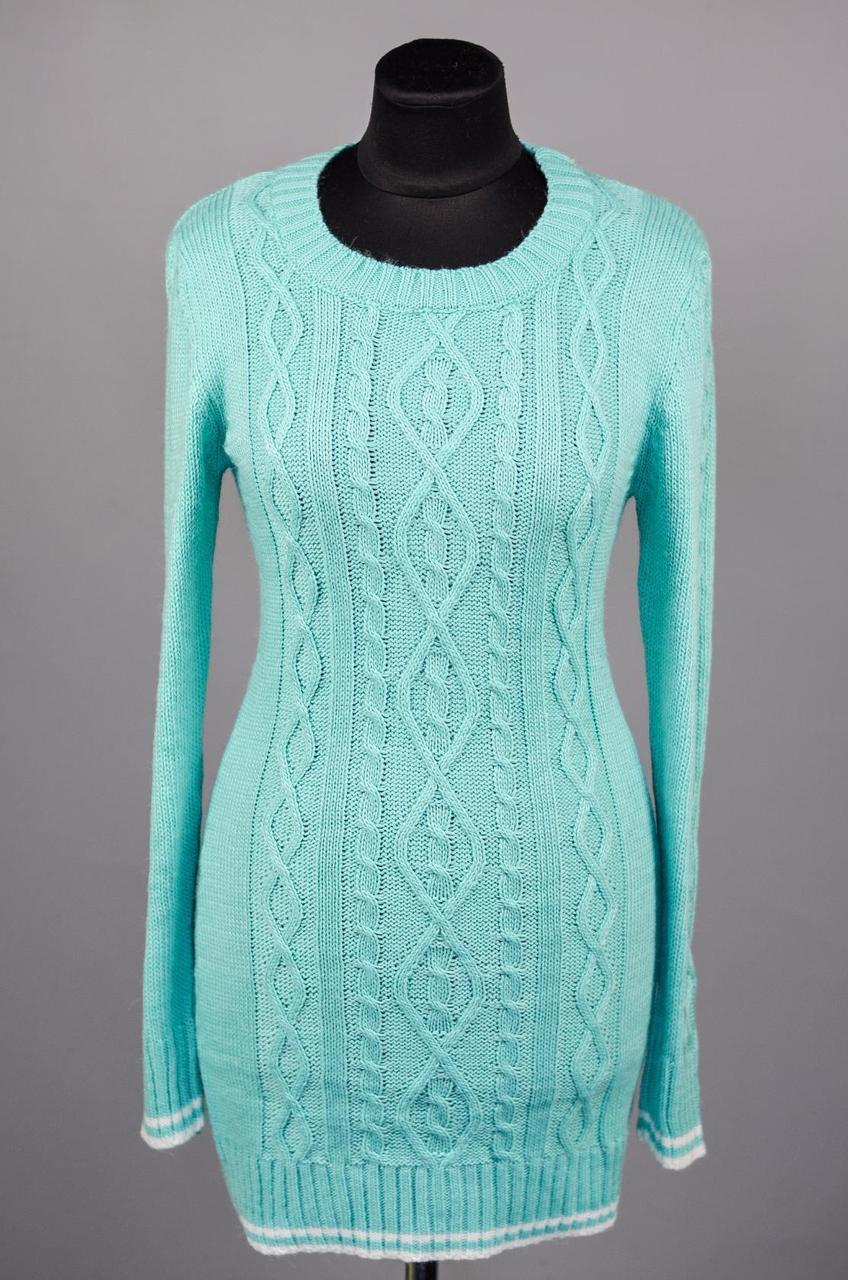 """Элегантный женский свитер """"Шерстяная нить"""" 48 размер норма"""