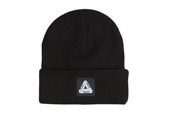 Зимняя модная шапка чёрного цвета с логотипом мужская женская унисекс