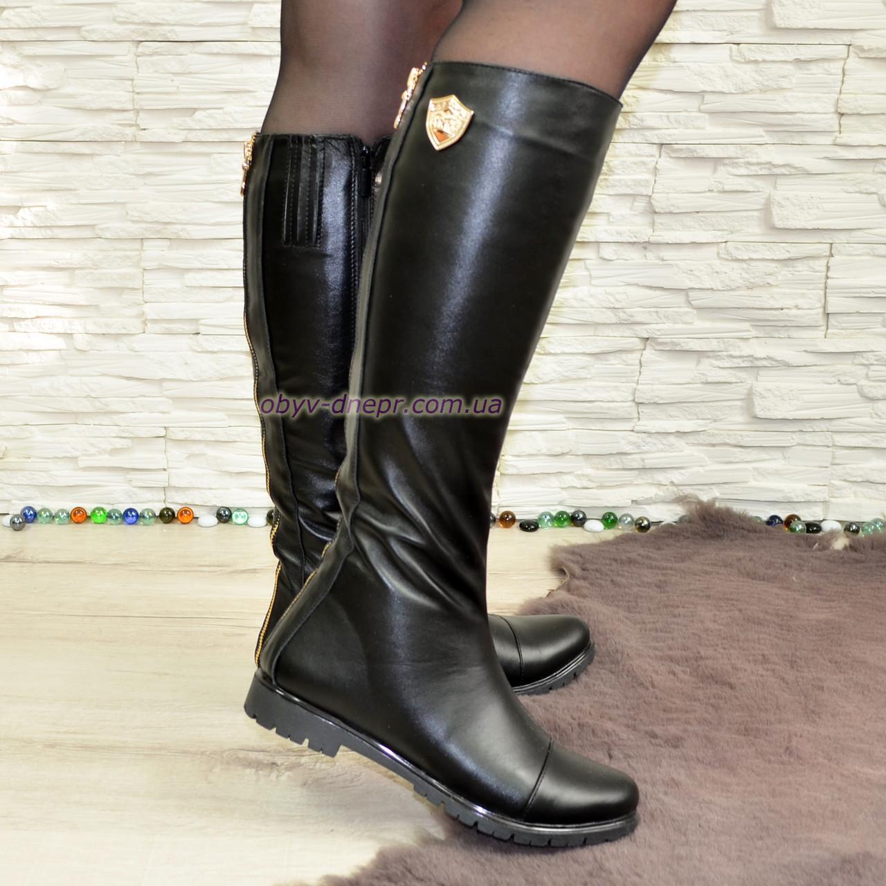 Стильные женские кожаные сапоги на меху от производителя купить и ... bf95d27b9ce