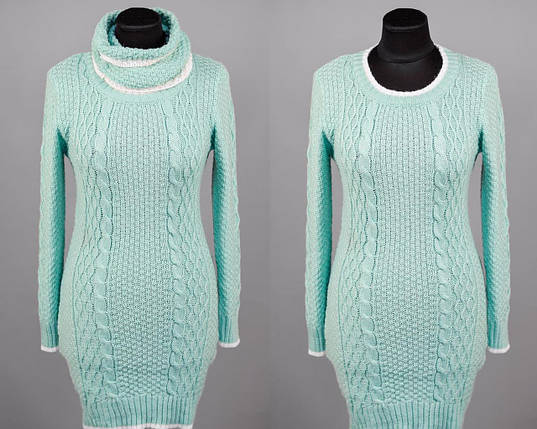 """Элегантный женский свитер воротник-хомут """"Шерстяная нить"""" 44, 46, 48 размер норма, фото 2"""