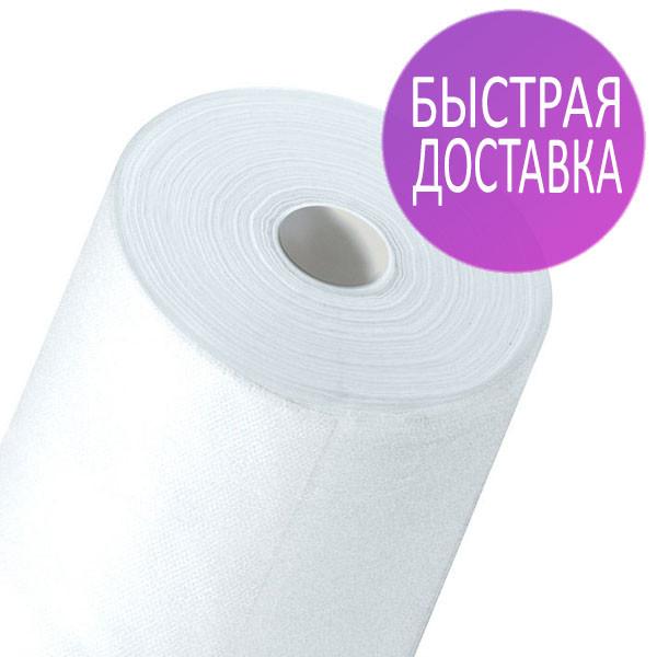Одноразовые простыни в рулонах 0,6х100 метров 20 мкм/м2, медицинские, для салонов красоты, белые