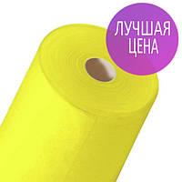 Одноразовая простынь 0,6х100 метров в рулоне 20 г/м2 Спанбонд желтые