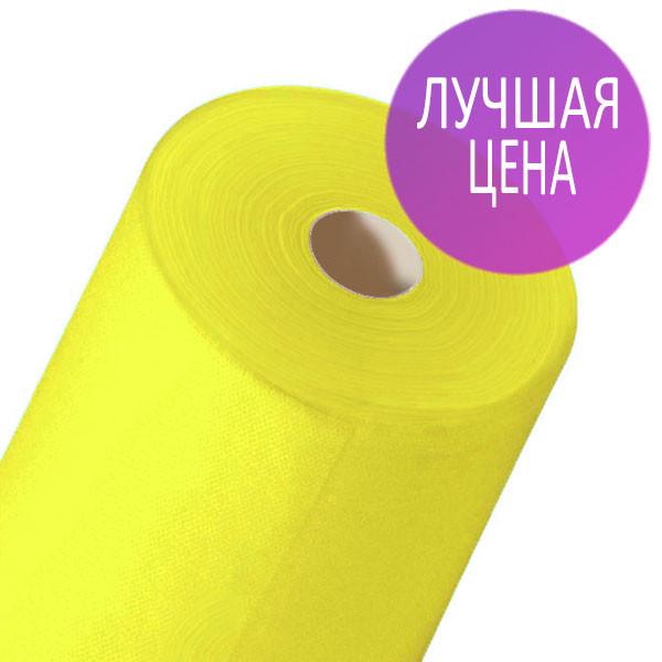 Одноразовые простыни в рулонах 0,6х100 метров 20 мкм/м2, медицинские, для массажных кабинетов, желтые
