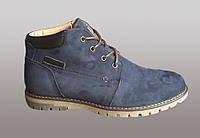 Мужские зимнее ботинки синего цвета
