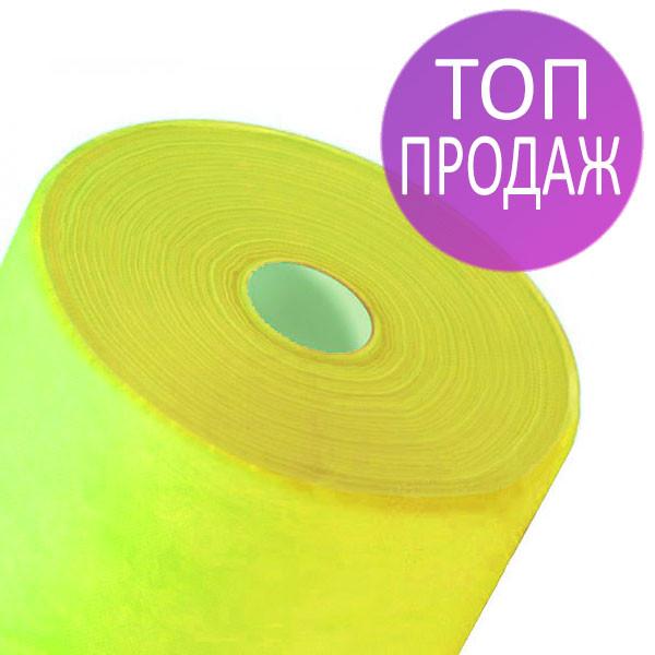 Одноразовые простыни в рулонах 0,8х100 метров 20 мкм/м2, медицинские,расходные материалы, желтые