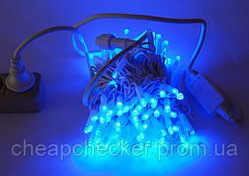 Внешняя Уличная Новогодняя Гирлянда Нить 20м 200 LED Лампочек Белый Синий Мульти Цвета