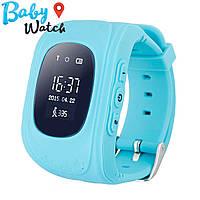 Детские умные часы Smart Watch GPS трекер Q50 Light Blue / детские ЧАСЫ - ТЕЛЕФОН / Гарантия