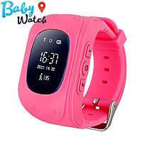 Детские умные часы Smart Watch GPS трекер Q50 Pink / детские ЧАСЫ - ТЕЛЕФОН / Гарантия