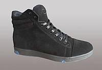 Мужские зимнее ботинки черного цвета