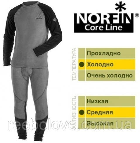 Термобелье Norfin Core Line флис-стрейч (1-ый слой) M
