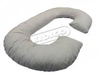 Подушка для беременных Рогалик - Горошек (с наволочкой) KIDIGO