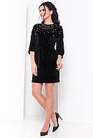 Женское черное платье КВЕСТ 3430 Modus  44-48 размеры